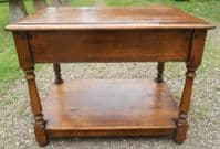 Quality Oak Lamp Table by Simpson's of Norfolk